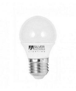 Lâmpada LED esférica Silver Electronics ECO E27 5W Luz branca