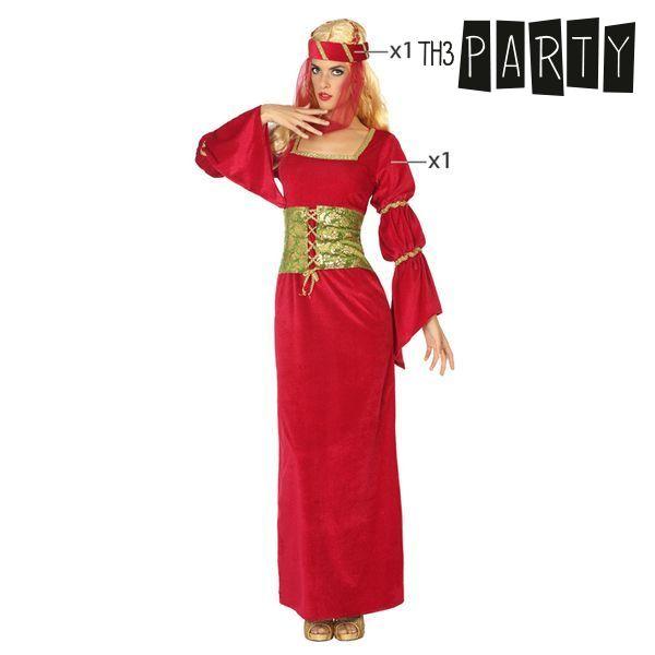 Fantasia para Adultos Dama medieval Vermelho