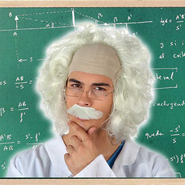 Peruca Científico Branco 119553