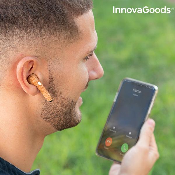 Auriculares sem fios Smartpods W Wood InnovaGoods