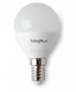Lâmpada LED esférica MegaLed GIG14E-P45 4,5W E14 2700K 380 lm Luz quente
