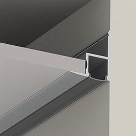 Perfil Alumínio para a Tira LEDPara Tetos DifusorLeitoso 1M