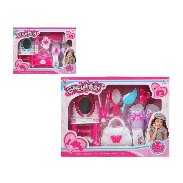 Conjunto de Cabeleieiro Infantil Super Beauty Branco Cor de rosa 112800