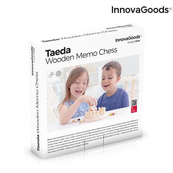Xadrez de Memória de Madeira Taeda InnovaGoods 26 Peças