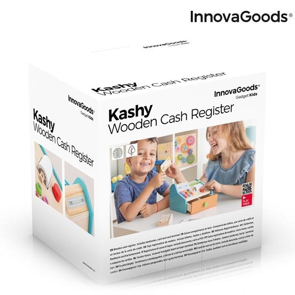 Caixa Registadora de Madeira com Acessórios Kashy InnovaGoods
