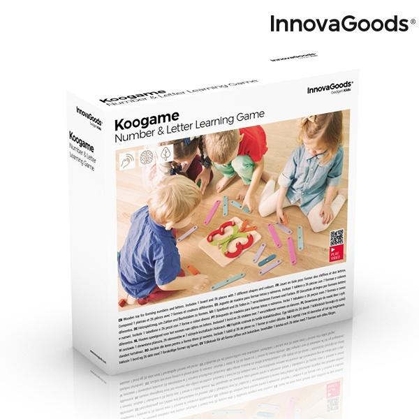 Jogo de Madeira para Formar Letras e Números Koogame InnovaGoods 27 Peças