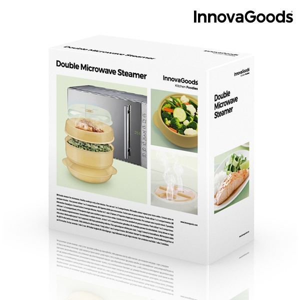 Vaporeira Dupla para Micro-ondas InnovaGoods