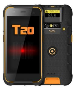 "PDA com leitor 1D + 2D Mustek NOMU-T20 5"" Quad Core 2 GB RAM 16 GB Preto"
