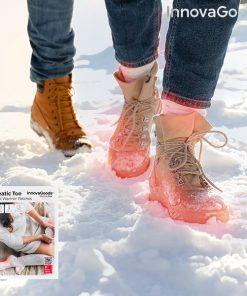 Adesivos Aquecedores de Pés Heatic Toe InnovaGoods (Pack de 10)