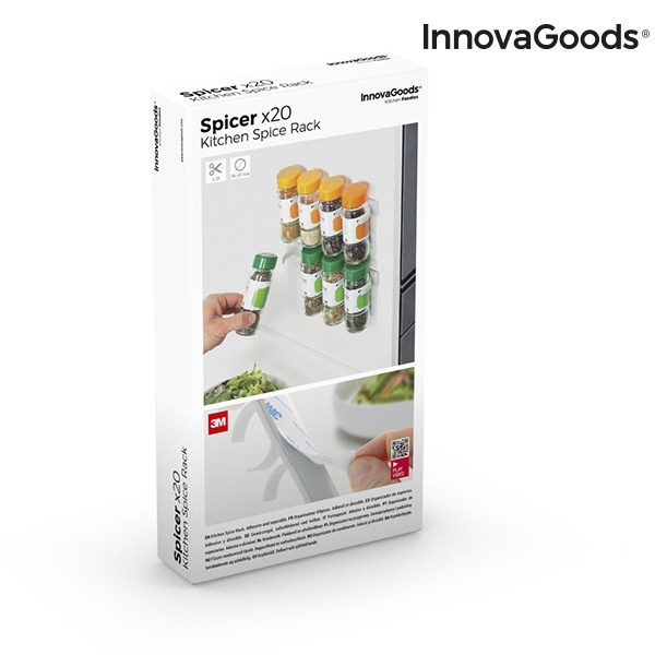 Organizador de Especiarias Adesivo e Divisível Spicer X20 InnovaGoods