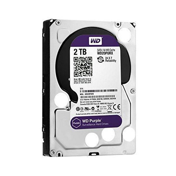 Disco Duro Western Digital Purple WD20PURZ 2 TB SATA III 64 MB Violeta