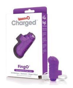Vibrador de Dedo Charged FingO Roxo The Screaming O 12457