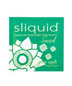 Lubrificante Naturals Swirl Maçã Verde Almofada 5 ml Sliquid 173