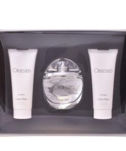 Conjunto de Perfume Mulher Obsessed For Women Calvin Klein (3 pcs)