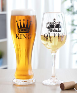 Conjunto de copos King & Queen 2 Peças