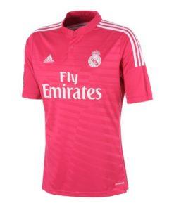 T-Shirt de Futebol de Manga Curta Homem Adidas Real Madrid Cor de rosa (2ª) (Tamanho l - us)