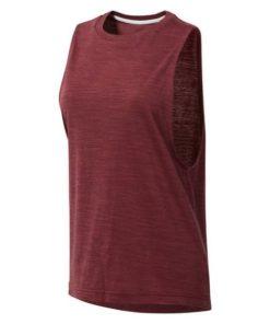 T-Shirt para Mulher sem Mangas Reebok el Marble Muscle Tank Castanho-avermelhado