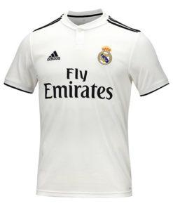 T-Shirt de Futebol de Manga Curta Homem Adidas Real Madrid Branco 18/19 (1ª)