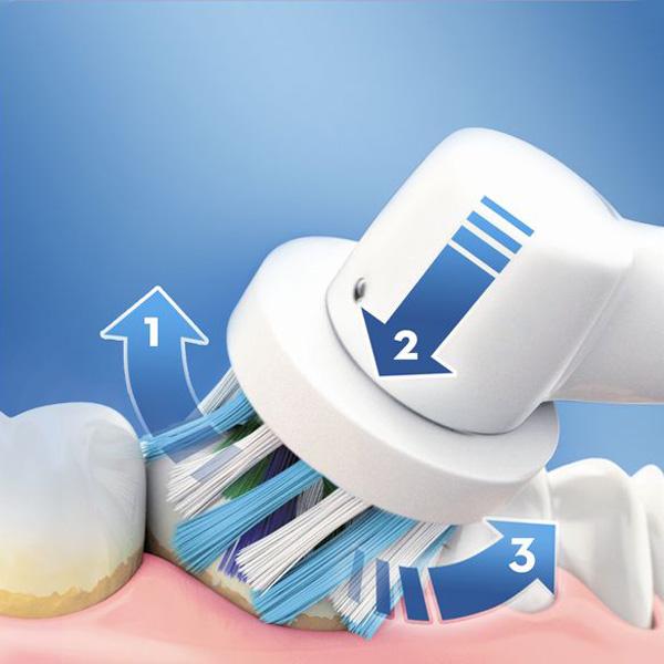 Escova de Dentes Elétrica Oral-B 600 Pro Branco Laranja