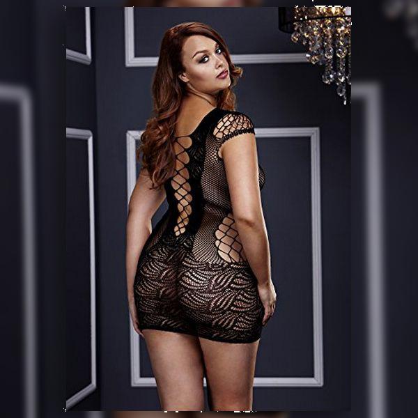 Mini Vestido de Renda Corset Front Tamanho Rainha Baci Lingerie BW3126
