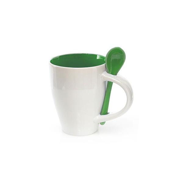Chávena com Colher (350 ml) Duas cores 149459