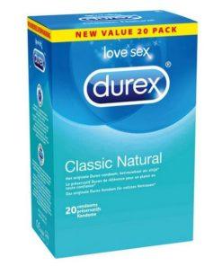 Preservativos Classic Natural 20 unidades Durex 45154