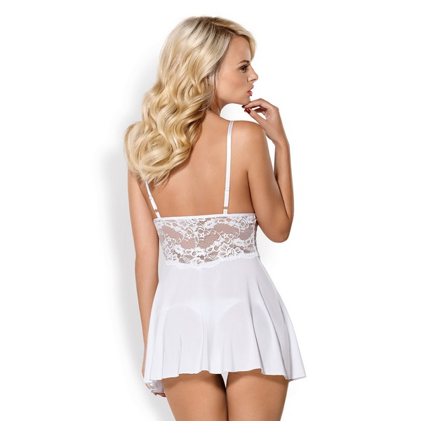 Camisa Babydoll & Cuecas 810-BAB-2 Obsessive Branco (Tamanho xxl)