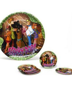 Conjunto de 5 Pratos Scooby-Doo Cartão