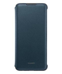 Capa tipo Livro para o Telemóvel Huawei Y7 2019 Flip Cover Azul