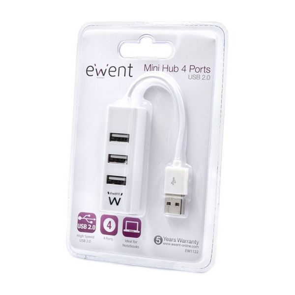 Hub USB Ewent EW1122 Branco