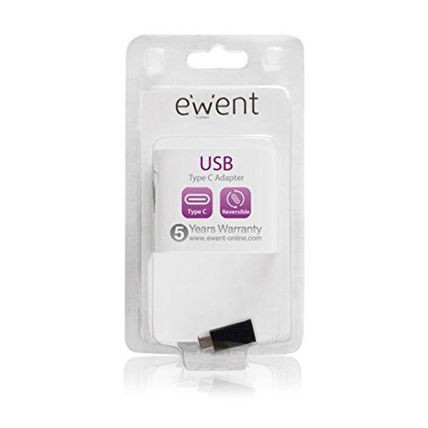 Adaptador USB C para Micro USB 2.0 Ewent EW9645 5V Preto
