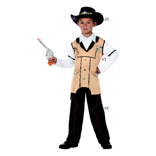 Fantasia para Crianças 118917 Sheriff Preto Bege (3 Pcs)