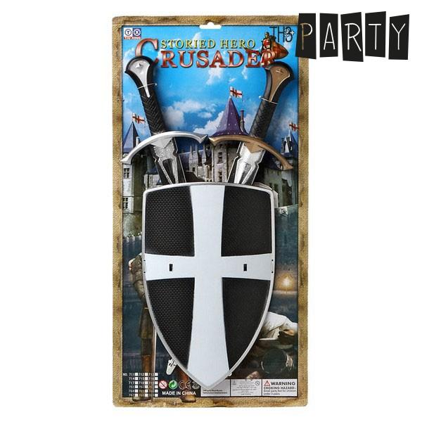 Conjunto de Espadas com Escudo (3 Pcs)