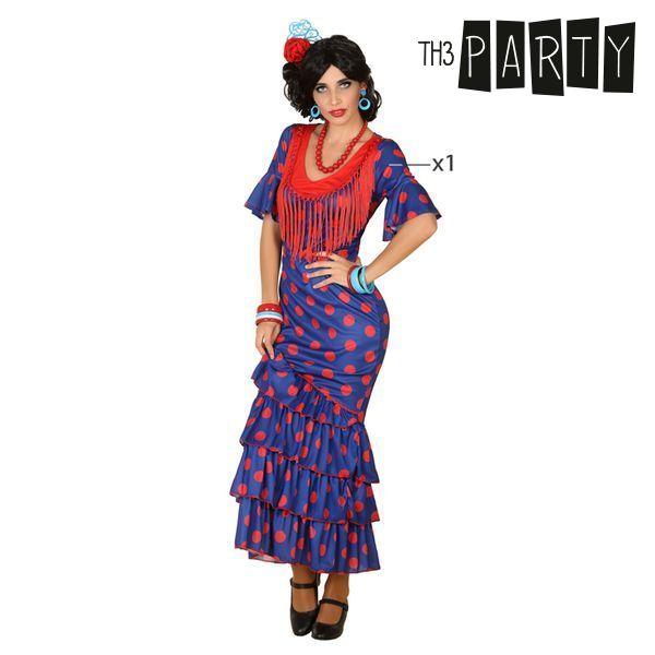 Fantasia para Adultos Bailarina de flamenco Azul