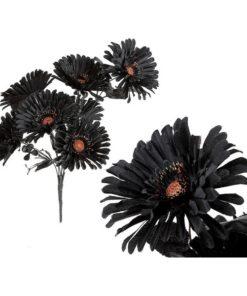 Flores Decorativas Halloween Preta