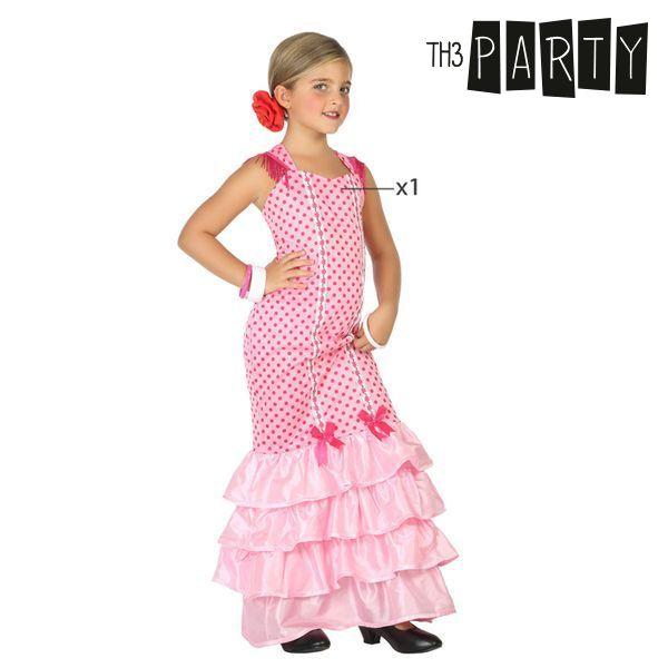 Fantasia para Crianças Bailarina de flamenco Cor de rosa