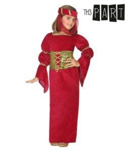 Fantasia para Crianças Dama medieval Vermelho