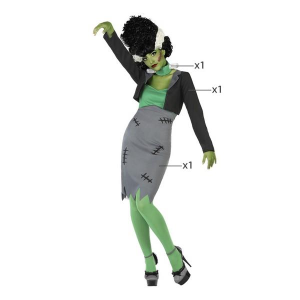 Fantasia para Adultos Frankenstein Verde (3 Pcs)