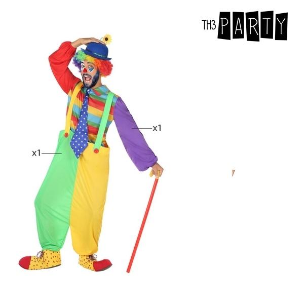 Fantasia para Adultos Palhaço Multicolor (3 Pcs)