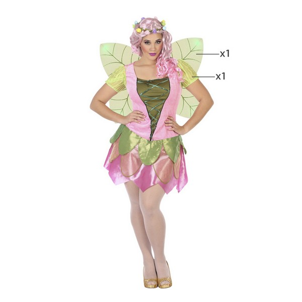 Fantasia para Adultos Fada Cor de rosa (2 Pcs)