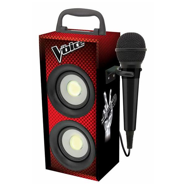Altifalante Bluetooth com microfone para karaoke La Voz 6080
