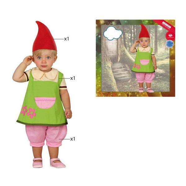 Fantasia para Bebés 112889 Gnomo Verde (3 Pcs)