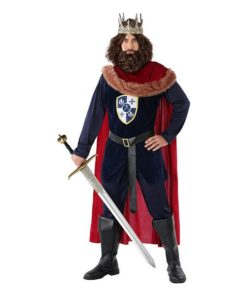 Fantasia para Adultos 113893 Rei medieval Azul marinho Vermelho