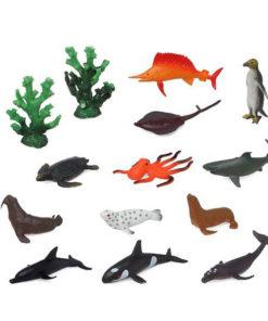 Conjunto Animais Selvagens 110159 Oceano (14 Pcs)