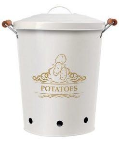 Lata de Metal Potatoes Branco 111279