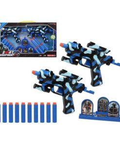 Pistola de Dardos Swat Equipment Azul (2 Uds) 111483