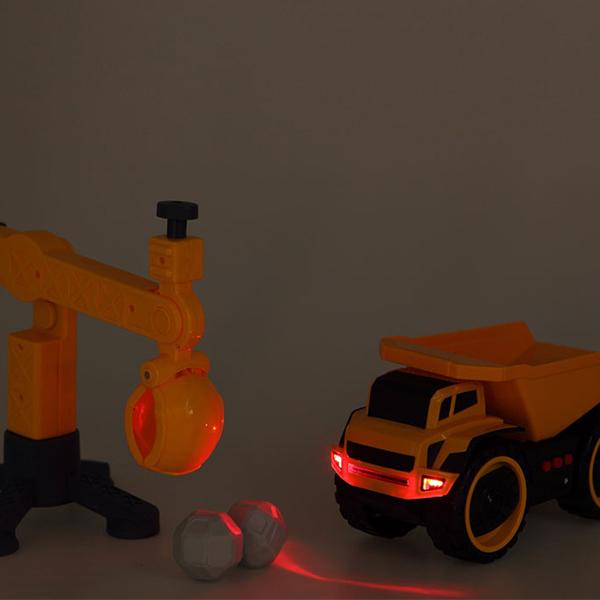 Camião Basculante Com Carga Amarelo 112961