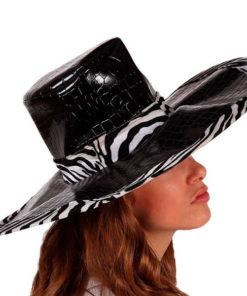 Chapéu Zebra Preto 115960