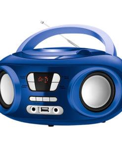 """Rádio CD Bluetooth MP3 9"""" BRIGMTON W-501 USB Azul"""