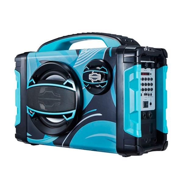 Altifalante Bluetooth Portátil BRIGMTON BBOX-2 FM LED 25W Azul